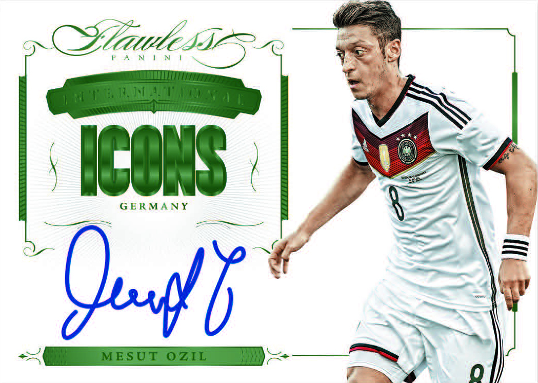 2016 Panini Flawless Soccer International Icons Signatures Emerald