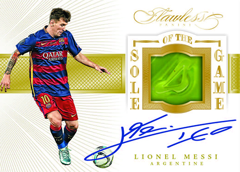 2016 Panini Flawless Soccer Sole of the Game Signatures