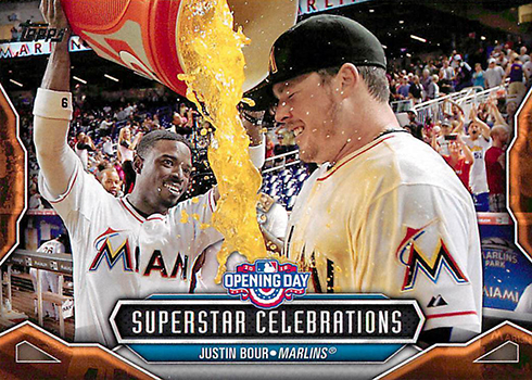 2016 Topps Opening Day Superstar Celebrations 20 Justin Bour