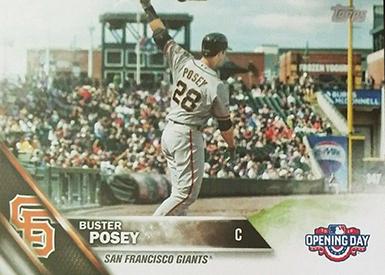 2016 T OD Var 183 Buster Posey