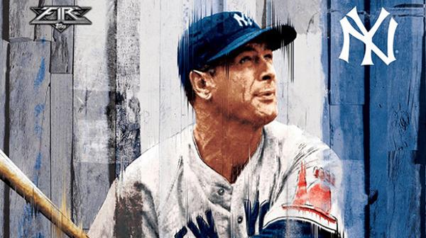 2016 Topps Fire Baseball Lou Gehrig Header