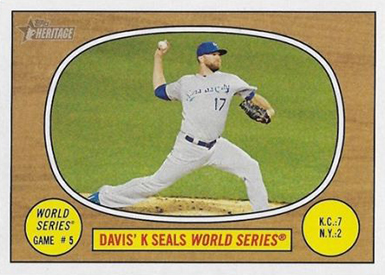 2016 Topps Heritage Error Variation 154 Davis World Series Color