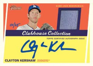 2016 Topps Heritage High Number Baseball Clubhouse Collection Autographed Relic