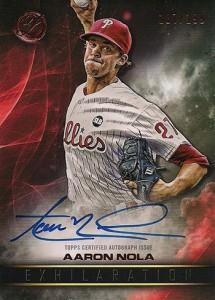 2016 Topps Legacies of Baseball Exhilaration Autograph Aaron Nola