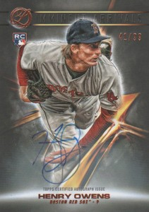 2016 Topps Legacies of Baseball Imminent Arrivals Autograph Henry Owens