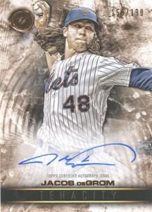 2016 Topps Legacies of Baseball Tenacity Autographs Jacob deGrom