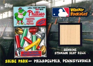 2016 Topps MLB Wacky Packages Ballpark Relic