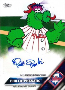 2016 Topps MLB Wacky Packages Mascot Autographs Phillie Phanatic
