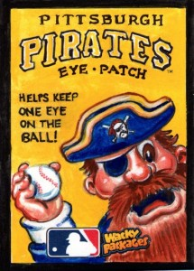 2016 Topps MLB Wacky Packages Sketch Card