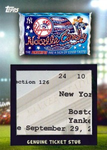 2016 Topps MLB Wacky Packages Ticket Relic