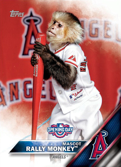 2016 Topps Opening Day Baseball Mascots Rally Monkey