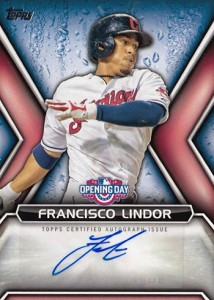2016 Topps Opening Day Francisco Lindor Autograph