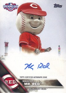 2016 Topps Opening Day Mascot Autographs Mr Red
