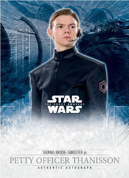 2016 Topps Star Wars The Force Awakens Autograph Mock-Ups Thomas Brodie-Sangster