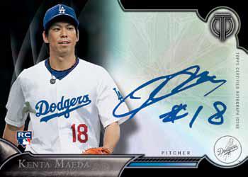 2016 Topps Tribute Baseball Kenta Maeda Autograph