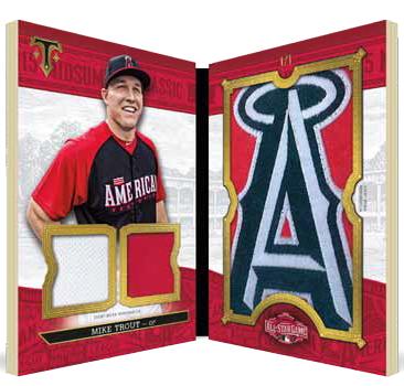 2016 Topps Triple Threads Baseball All-Star Jumbo Team Logo Sleeve Patch
