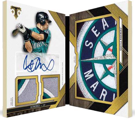 2016 Topps Triple Threads Baseball Jumbo Plus Autographed Triple Relic Book