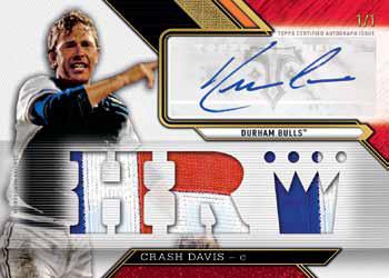 2016 Topps Triple Threads Baseball Ruby Autographed Relic Crash Davis