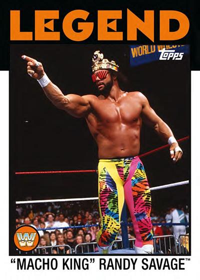 2016 Topps WWE Heritage Base Legend Macho King Randy Savage