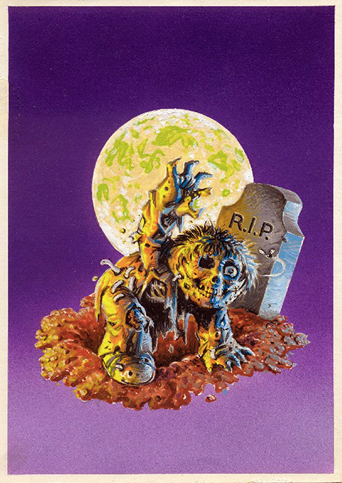 Garbage Pail Kids Dead Ted Original Artwork John Pound 500 W
