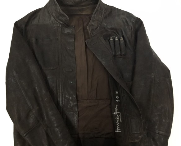 Harrison Ford Star Wars The Force Awakens Signed Leather Jacket