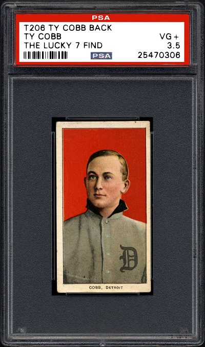 T206 Ty Cobb Lucky 7 Find PSA 2-5