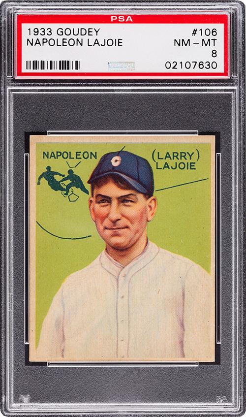 1933 Goudey 106 Napoleon LaJoie PSA 8