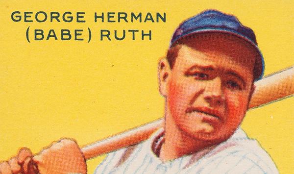 1933 Goudey 53 Babe Ruth PSA 8 Header