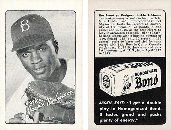1947 Bond Bread Jackie Robinson 7 DP B