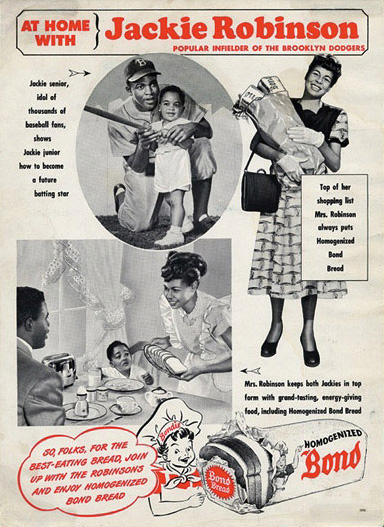 1947 Bond Bread Jackie Robinson Poster