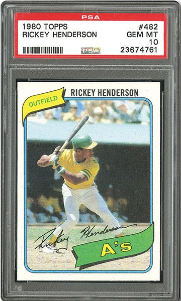 1980 Topps Rickey Henderson Rookie Card PSA 10
