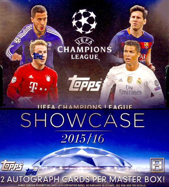 2015-16 Topps UEFA Champions League Showcase Hobby Box