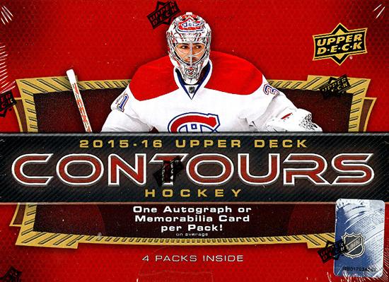 2015-16 Upper Deck Contours Hockey Hobby Box