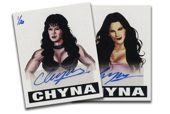 2016 2012 Leaf Originals Wrestling Chyna Autograph Header