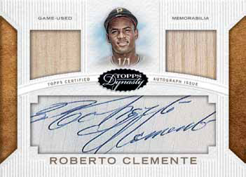 2016 Topps Dynasty Baseball Cut Signatures Dual Relic Clemente