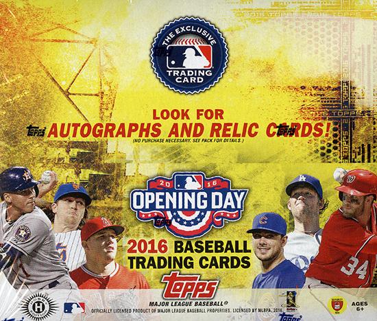 2016 Topps Opening Day Baseball Box
