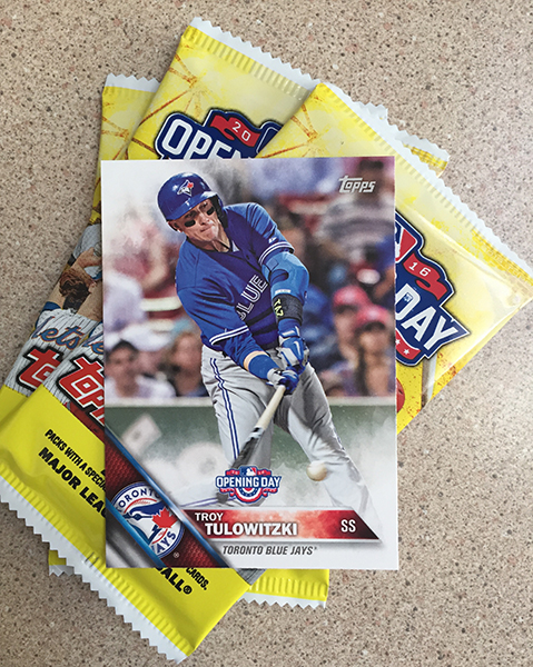 2016 Topps Opening Day Canadian Blister Pack Tulo Front
