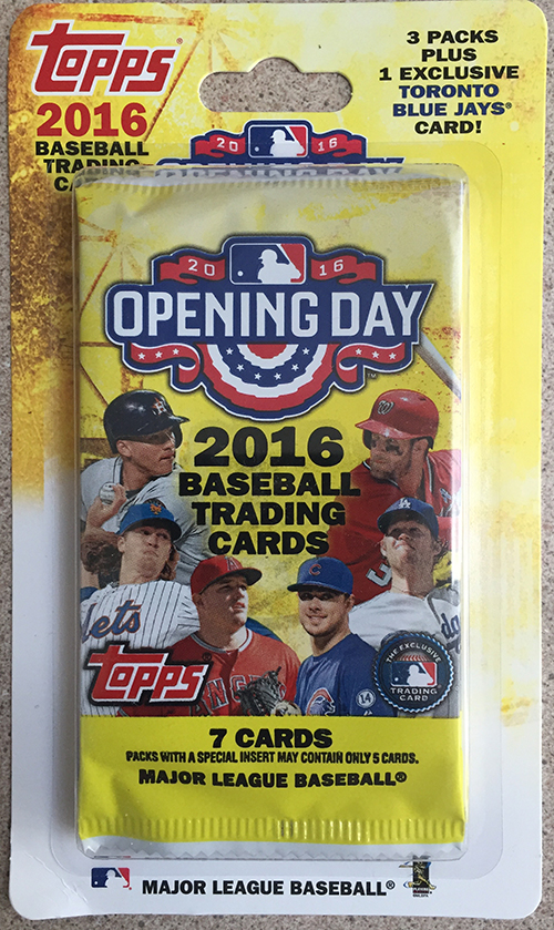 2016 Topps Opening Day Canadian Blister Pack
