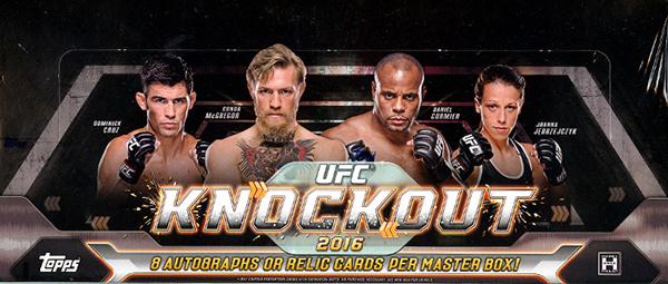2016 Topps UFC Knockout Hobby Box