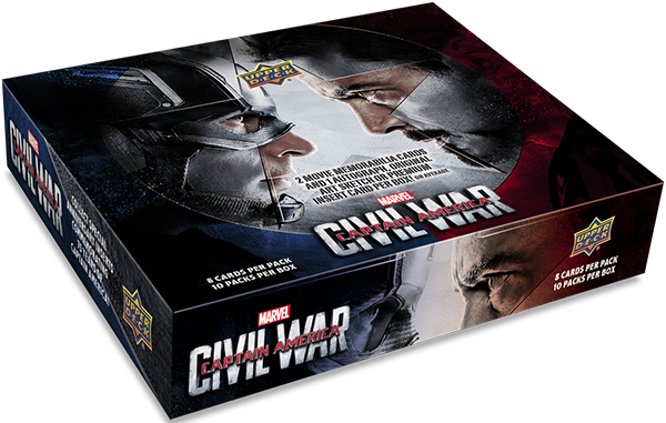 2016 Upper Deck Captain America Civil War Hobby Box