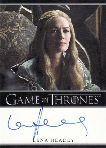 GOT S1 Lena Headey Autograph Bordered