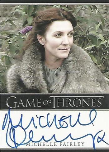GOT S1 Michelle Fairley Autograph Bordered