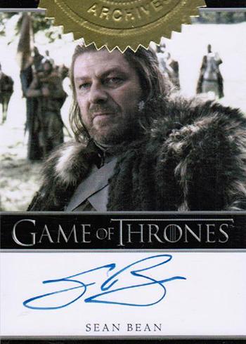 GOT S1 Sean Bean Autograph Bordered
