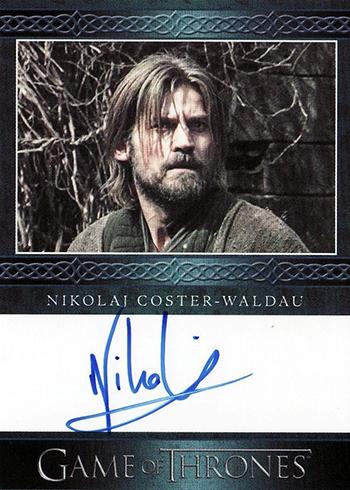 GOT S3 Nikolaj Coster-Waldau Autograph Blue