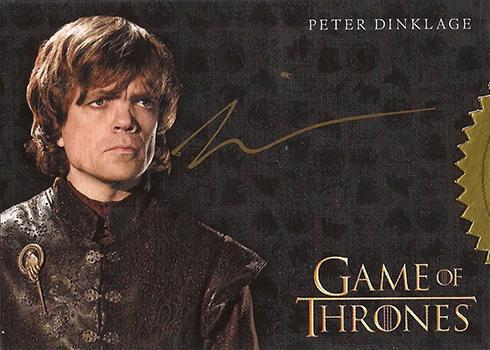 GOT S3 Peter Dinklage Autograph Gold