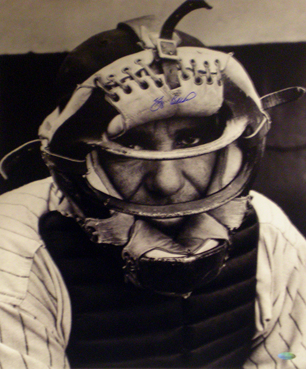 Yogi Berra Signed Photo Steiner Closeup