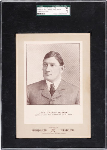 1902-11 W600 Sporting Life Honus Wagner Street Clothes SGC 60