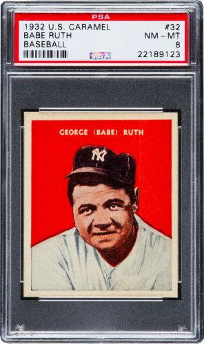 1932 US Caramel Babe Ruth PSA 8