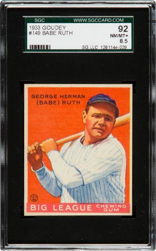 1933 Goudey Babe Ruth SGC 92