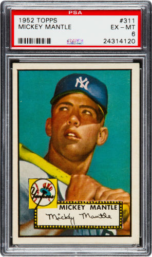 1952 Topps Mickey Mantle PSA 6